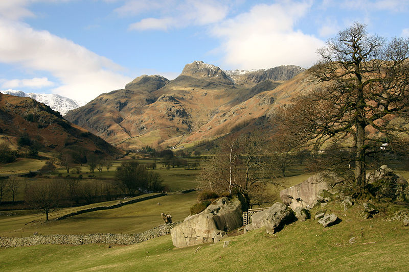 Langdale Pikes in the Lake District. Photograph from Wikipedia