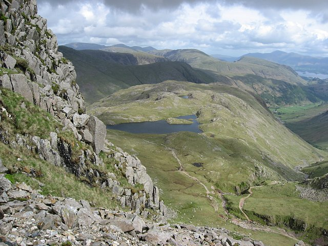Grains Gill and Sprinkling Tarn from Great End.