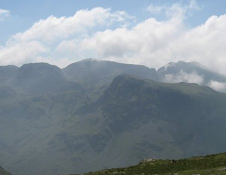 The Scafells from Great Gable